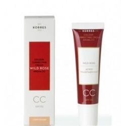 Korres Άγριο Τριαντάφυλλο Cream CC Light SPF30 30ml