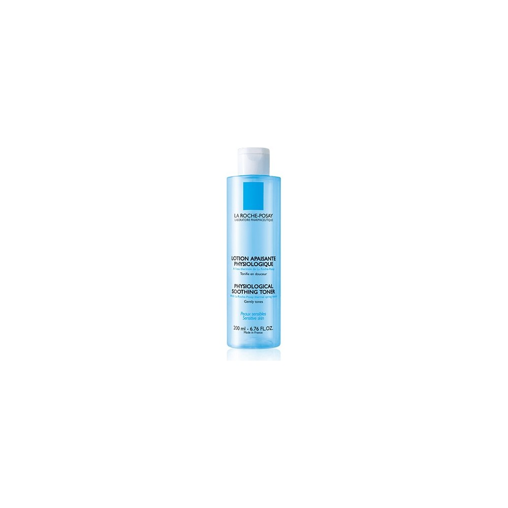 LA ROCHE POSAY - PHYSIOLOGICAL SOOTHING TONER Gentle, paraben-free toner, Clear blue PET 200ml capsule bottle