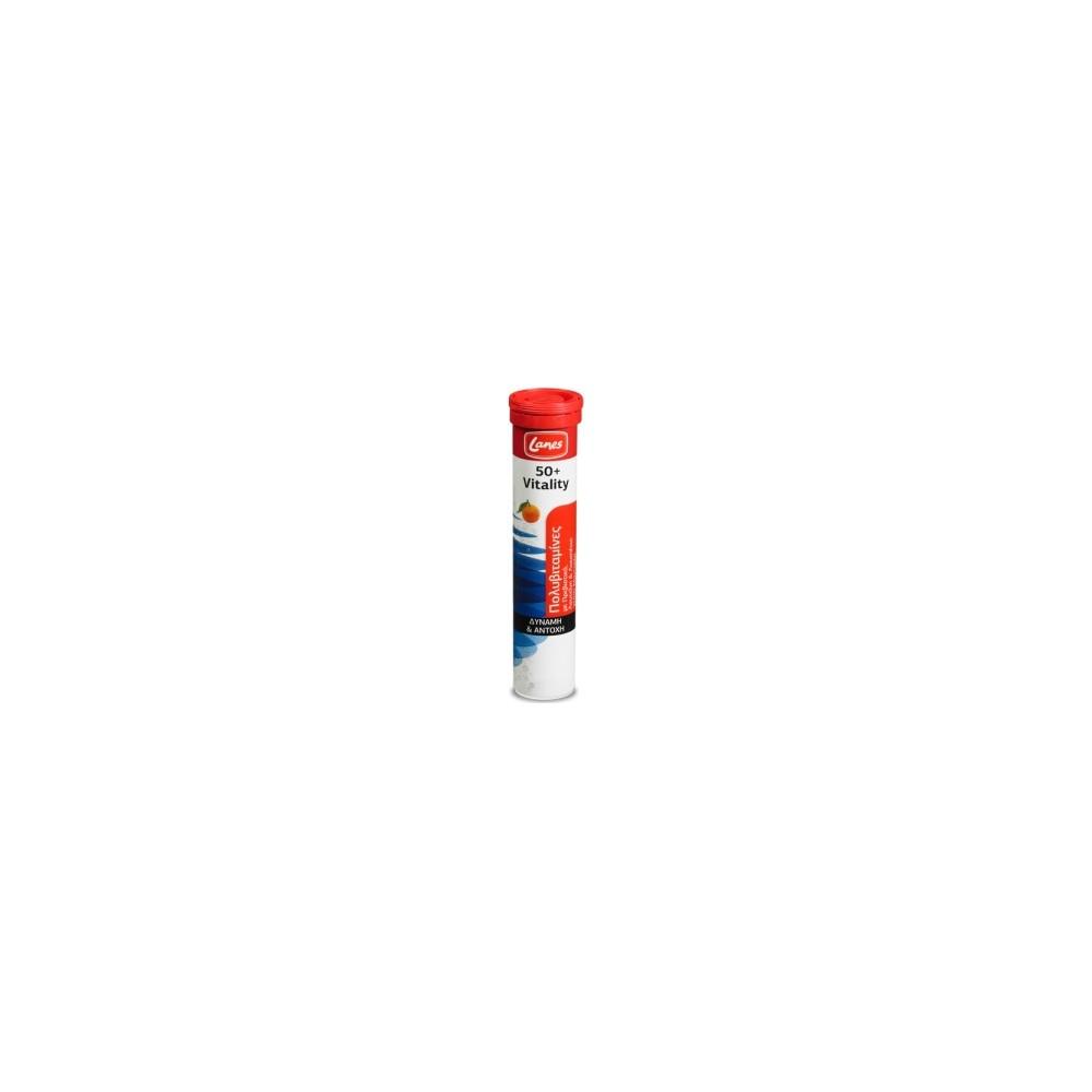 LANES - Πολυβιταμίνες 50+ Vitality, tangerine, 20 efferv. tabs