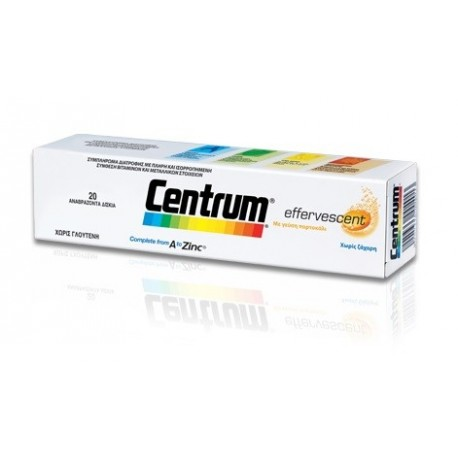 PFIZER - Centrum A To Zinc Effervescent Tablets, 20 tablets