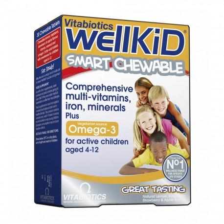 Vitabiotics - Wellkid Συμπλήρωμα Σχεδιασμένο Ειδικά για Παιδιά 4-12 ετών, 30Tabs