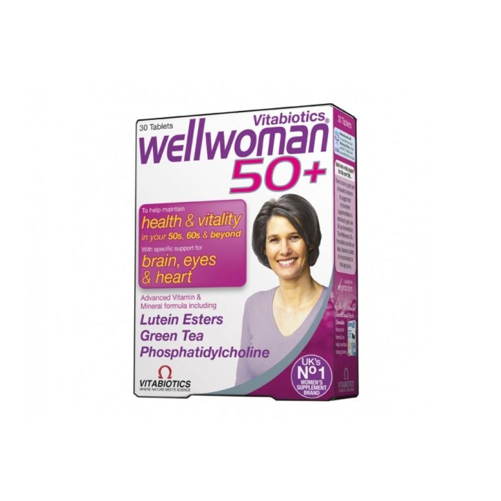 Vitabiotics - Wellwoman 50+, 30tabs (Συμπλήρωμα Διατροφής για Γυναίκες άνω των 50 ετών)