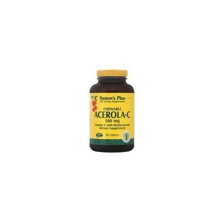 Nature's Plus Acerola-C Complex 500 mg 90 chewable tabs