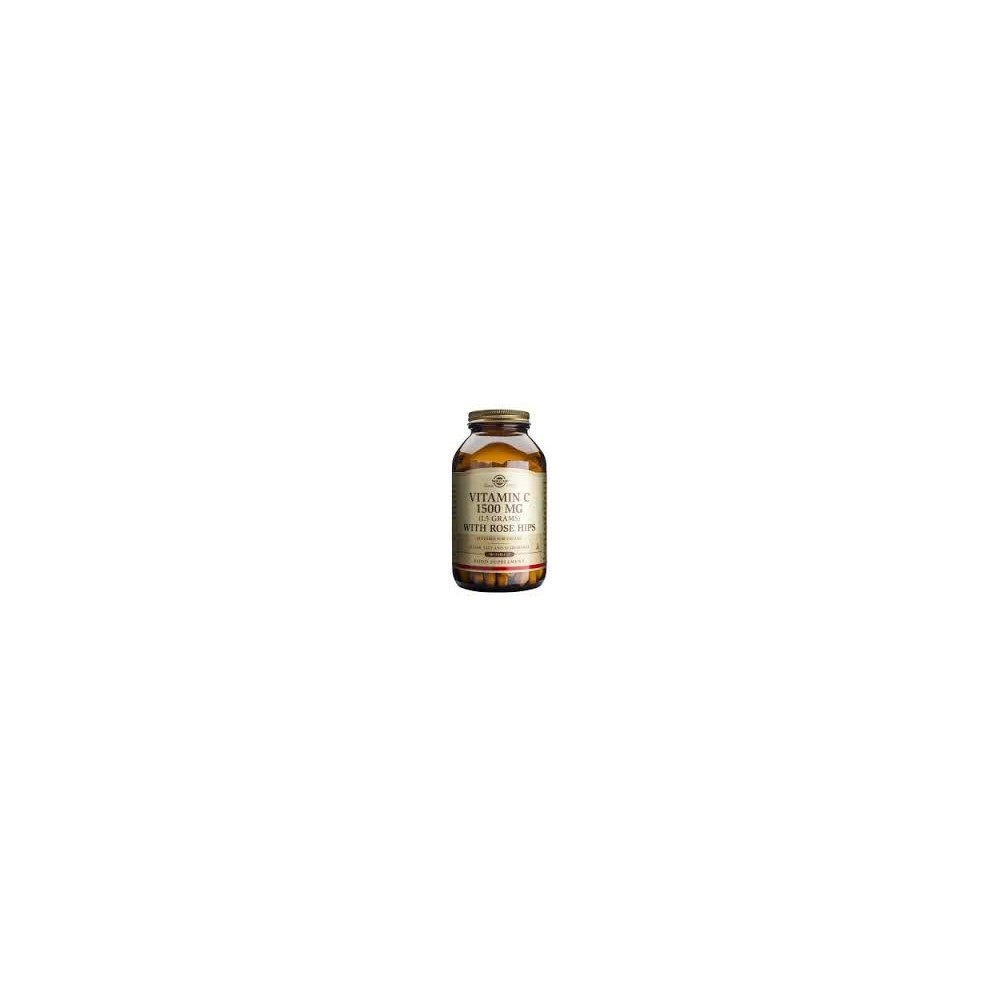 SOLGAR VITAMIN C WITH ROSE HIPS 1500MG 90TBS