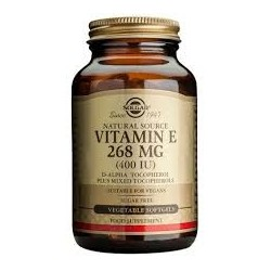 Solgar Vitamin E Natural 400 IU 50 softgels