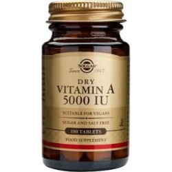 Solgar Dry Vitamin A 5000 IU 100 tabs