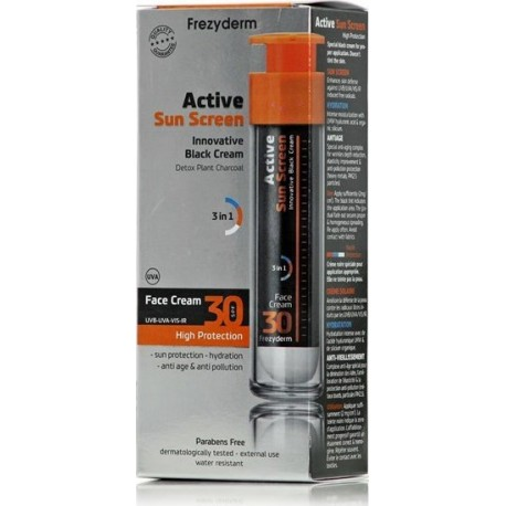 Frezyderm Active Sun Screen Innovative Black Cream SPF30 50ml