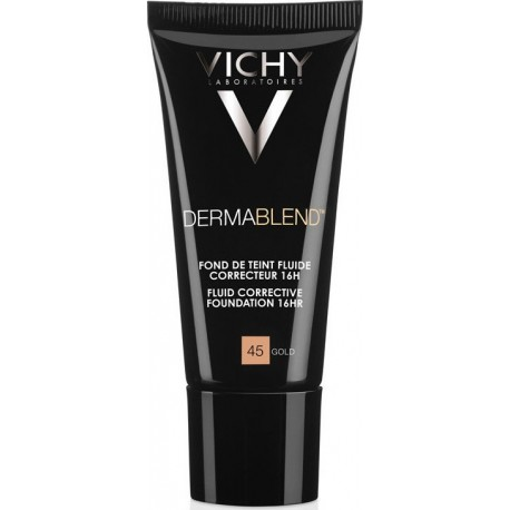 Vichy Dermablend Fluide Διορθωτικό Make Up SPF35 45 Gold 30ml