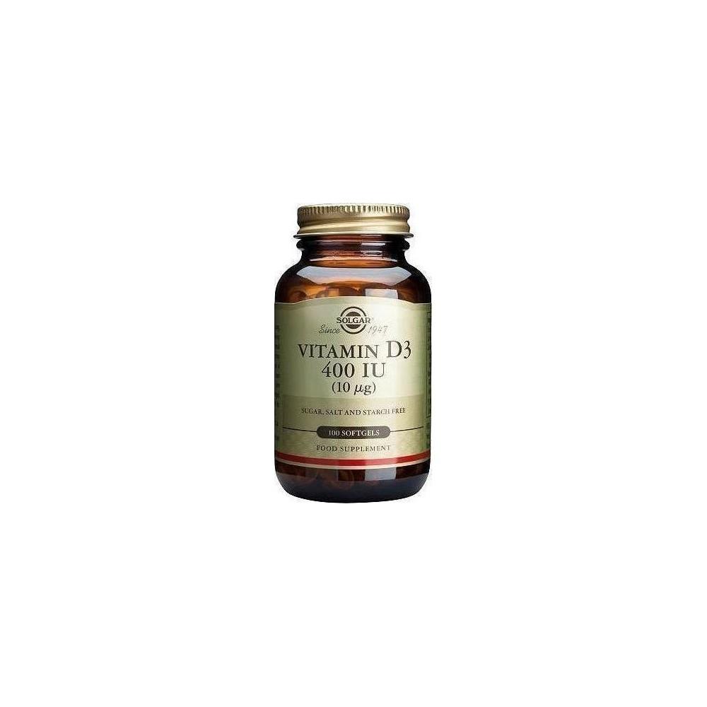 Solgar Vitamin D3 400 IU 100 softgels