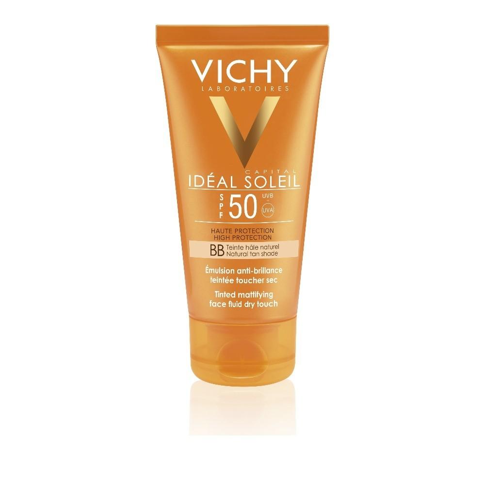 Vichy Ideal Soleil BB Tinted Dry Touch Αντηλιακή Κρέμα με Χρώμα και Ματ Αποτέλεσμα SPF50 50ml