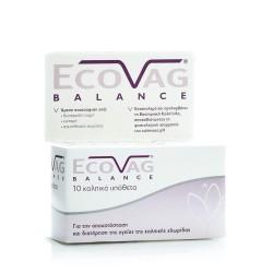 Frezyderm EcoVag Balance Κολπικά Υπόθετα Γαλακτοβακίλλων 10τμχ
