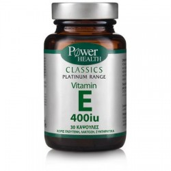 POWER HEALTH - Vitamin E 400 iu, caps 30s