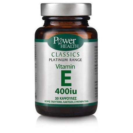 POWER HEALTH - Vitamin E 400 iu, caps 30s
