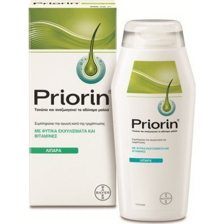 PRIORIN - Shampoo (Oily hair) for hair loss, 200ml