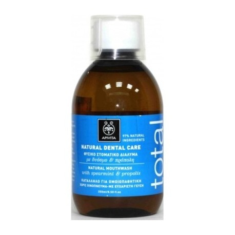 APIVITA - NATURAL DENTAL CARE Natural Mouthwash with propolis & spearmint 250ml