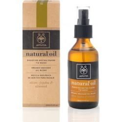 Apivita Natural Oil Βιολογικό Μείγμα Ελαίων Για Μασάζ 100ml