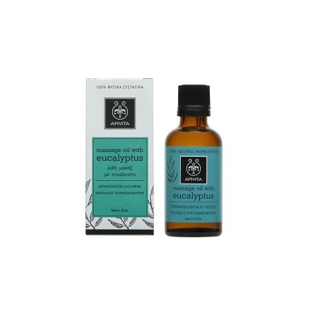 APIVITA - EUCALYPTUS Massage Oil for the Winter with eucalyptus & rosemary 50ml