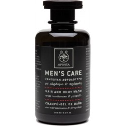 APIVITA - MENS CARE Hair and Body Wash with cardamom & propolis 250ml