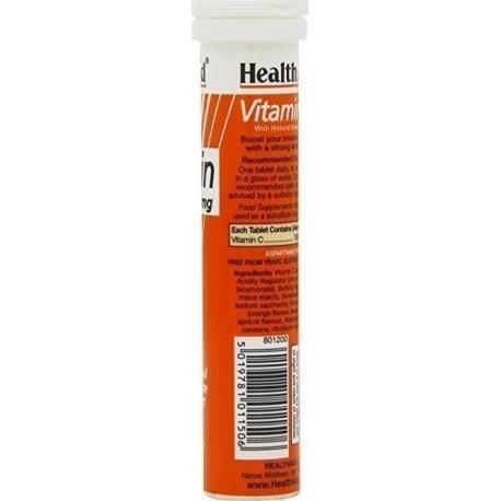 HEALTH AID - VITAMIN C 500mg - 20 tabs ORANGE