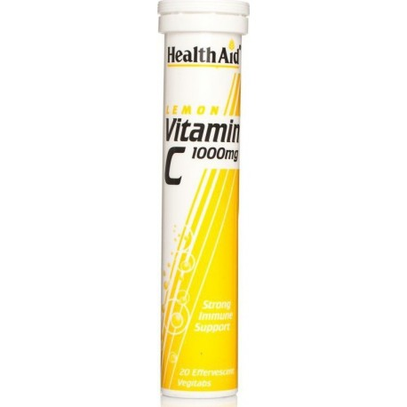 HEALTH AID - VITAMIN C 1000mg - 20 tabs LEMON