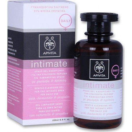 APIVITA - INTIMATE CARE Gentle Cleansing Gel for the Intimate Area for Daily Use with chamomile & propolis 200ml