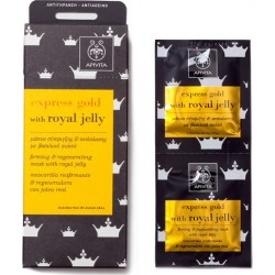 APIVITA - EXPRESS GOLD Firming and Regenerating Mask with royal jelly 2x8ml