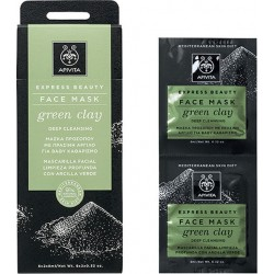 APIVITA - EXPRESS BEAUTY Deep Cleansing Mask with green clay 2x8ml