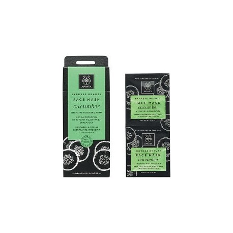 APIVITA - EXPRESS BEAUTY Intensive Hydration Mask with cucumber 2x8ml