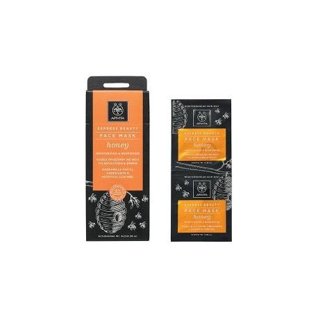 APIVITA - EXPRESS BEAUTY Moisturizing and Nourishing Mask with honey 2x8ml