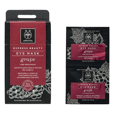 APIVITA - EXPRESS BEAUTY Anti-Wrinkle Eye Mask with grape 2x2ml