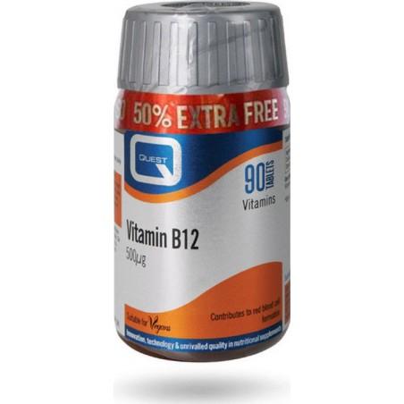 Quest Vitamin B12 500mg 60tabs + ΔΩΡΟ 30tabs