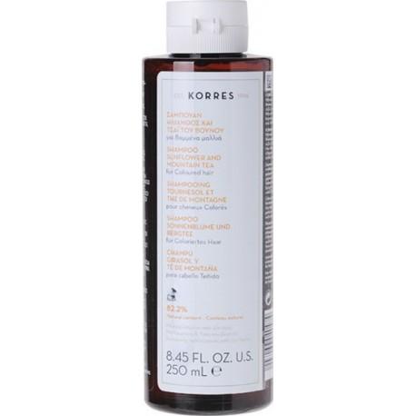 KORRES - SUNFLOWER & MOUNTAIN TEA SHAMPOO For coloured hair, 250mL