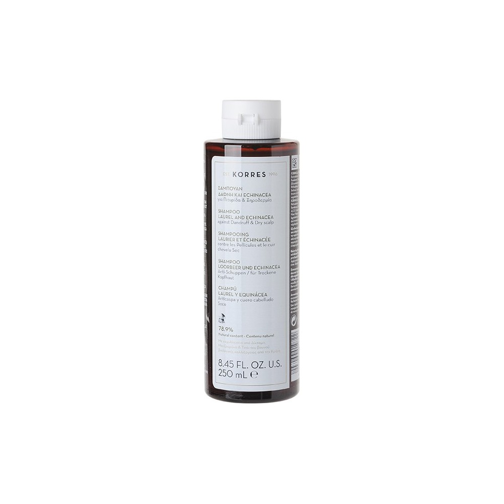 KORRES - LAUREL & ECHINACEA SHAMPOO Dandruff & dry scalp, 250mL