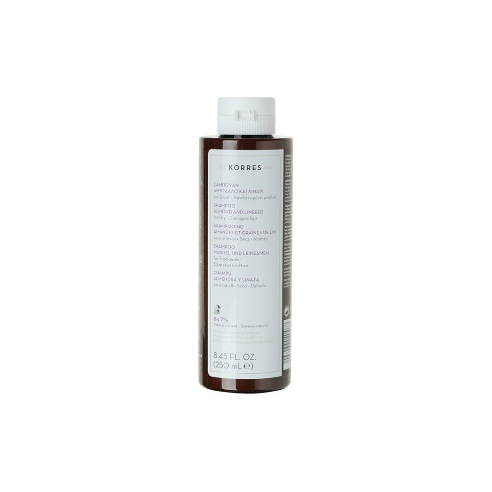 KORRES - ALMOND & LINSEED SHAMPOO  For dry/damaged hair, 250ML