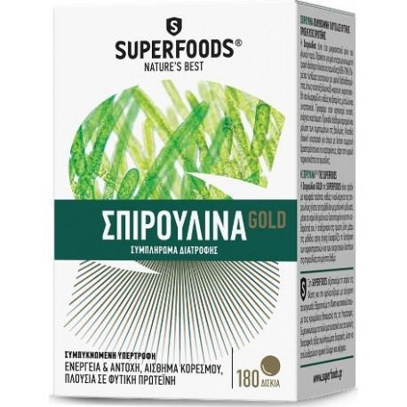 SUPERFOODS - SPIRULINA GOLD EUBIAS SUPREME QUALITY, 180 TABLETS