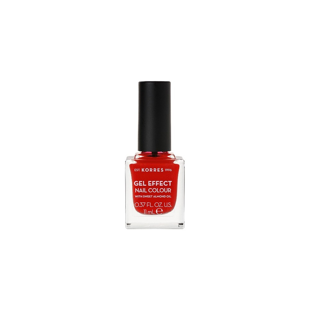 Korres Gel Effect Nail Colour 48 Coral Red 11ml