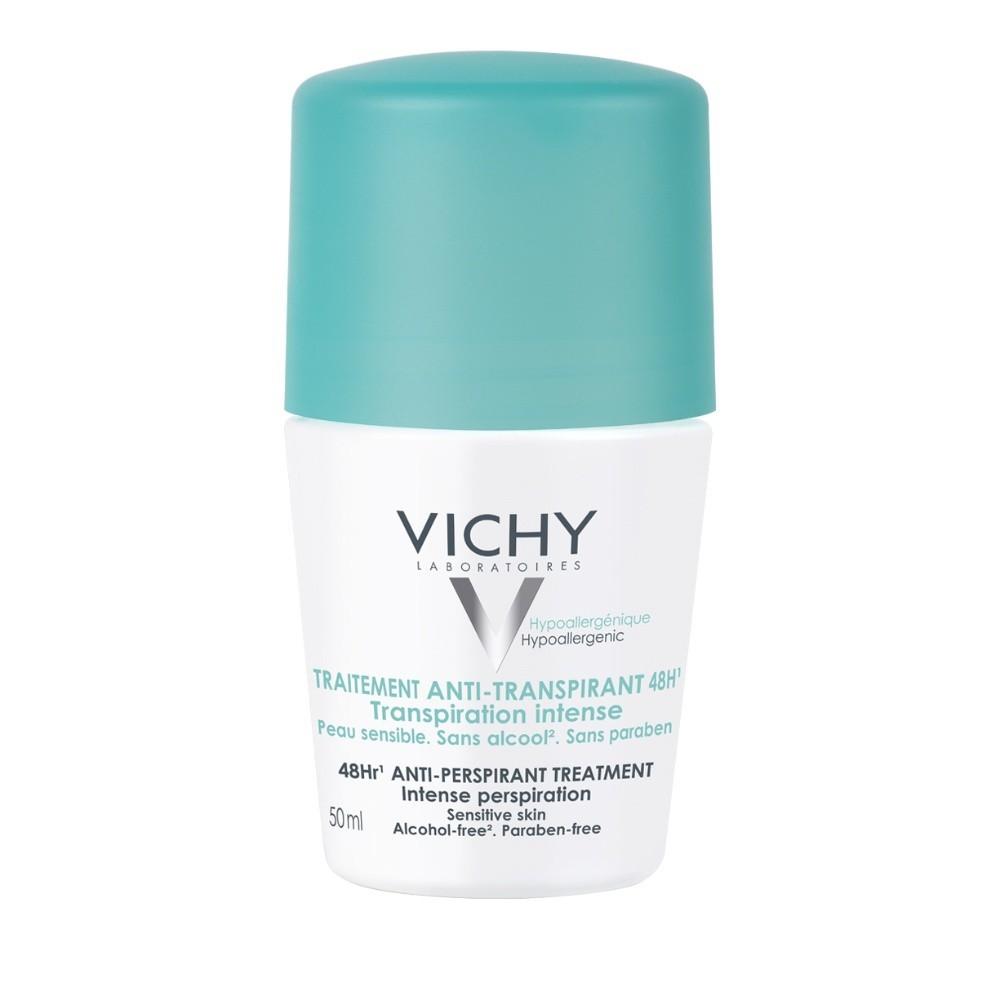 Vichy Deodorant Αποσμητικό Roll-On 48h για Έντονη Εφίδρωση 50ml