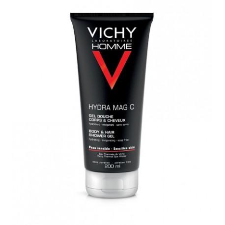 Vichy Homme Hydra Gel Douche Mag C Αντρικό Αφρόλουτρο για Σώμα & Μαλλιά 200ml