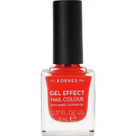Korres Gel Effect Nail Colour 45 Coral 11ml