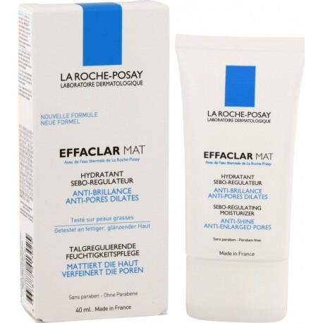 LA ROCHE POSAY - EFFACLAR MAT Sebo-regulating moisturizer. Anti-shine, anti-enlarged pores, 40 ml tube