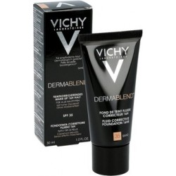 VICHY DERMABLEND CORRECTIVE FOUNDATION Corrects minor to moderate skin imperfections. Available in 5 shades. - SAND
