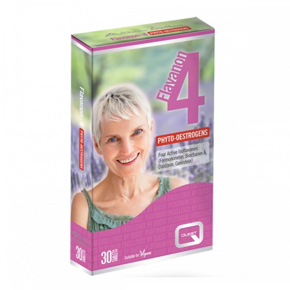 Quest - Flavanon 4, 40 mg Συμπλήρωμα Διατροφής για τις γυναίκες στην εμμηνόπαυση, 30 tabs