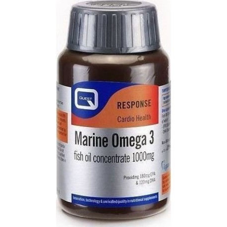 Quest - MARINE OMEGA 3 super concentrate fish oil equivalent to 1000mg standard fish oil