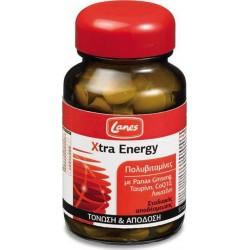 LANES - Πολυβιταμίνες Xtra Energy, 30 ταμπλέτες