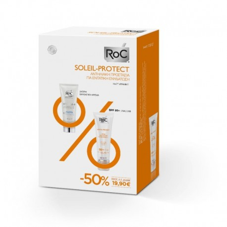 Roc Set Soleil-Protect Quenching Nourishing Cream SPF50+ 50ml & Hydra+ Light Cream 40ml