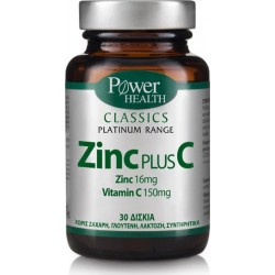 POWER HEALTH - Classics Platinum Range Zinc Plus C 150mg, 30 caps