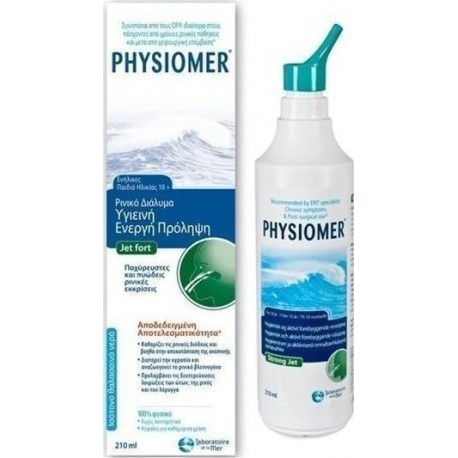 PHYSIOMER - FORT for children under 10 + - ADULTS, 210ml