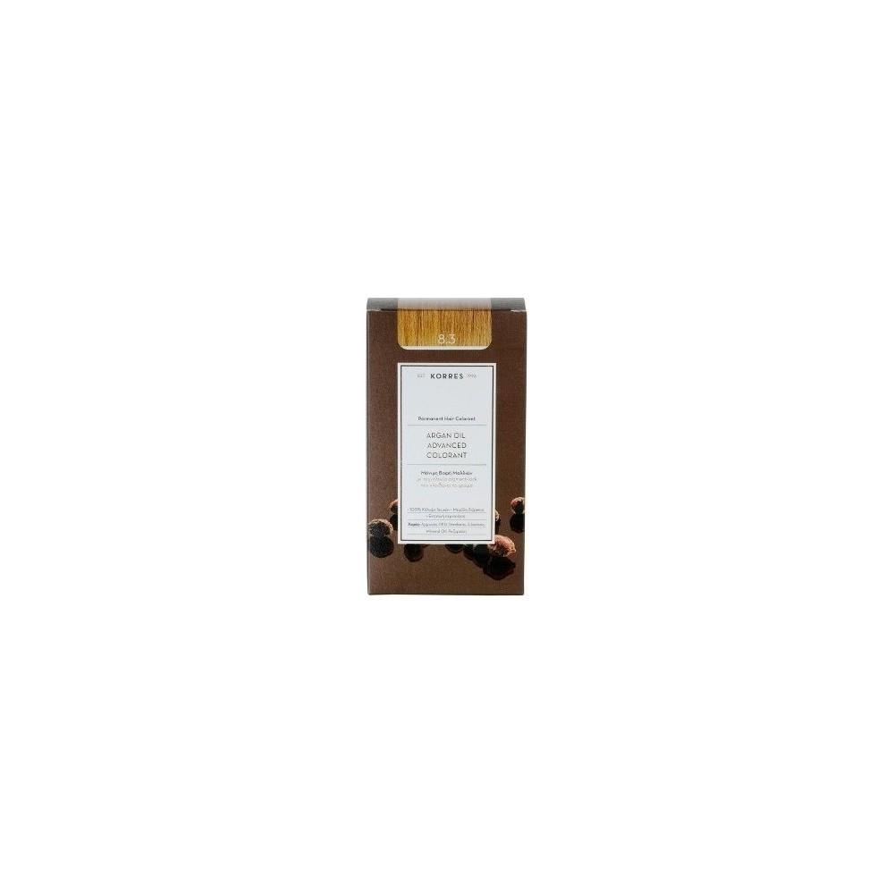 KORRES - Argan Oil Advanced Colorant Μόνιμη Βαφή Μαλλιών με τεχνολογία Pigment-Lock που κλειδώνει το χρώμα 50ml - 8.3 ΞΑΝΘΟ ΑΝΟΙ
