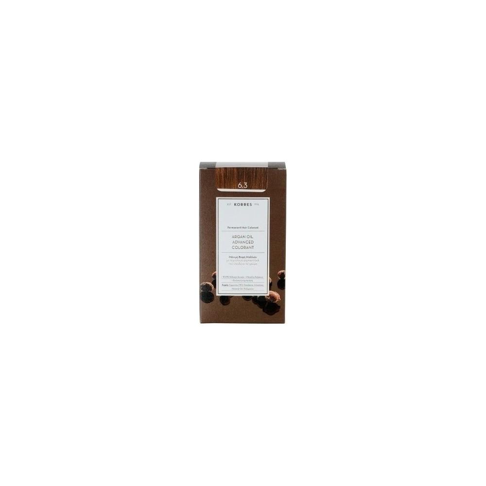 KORRES - Argan Oil Advanced Colorant Μόνιμη Βαφή Μαλλιών με τεχνολογία Pigment-Lock που κλειδώνει το χρώμα 50ml - 6.3 ΞΑΝΘΟ ΣΚΟΥ