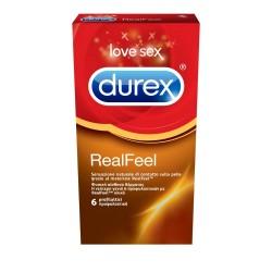 Durex RealFeel Προφυλακτικά από Προηγμένο Υλικό χωρίς Λάτεξ για πιό Φυσική Αίσθηση 6τμχ